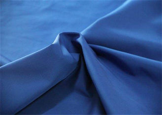 China Blue 100 Percent Polyester Fabric , 190T 63 * 63D Polyester Blend Fabric supplier