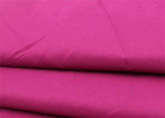 China Pink Polyester Viscose Elastane Fabric , Durable Orange Polyester Lycra Fabric supplier