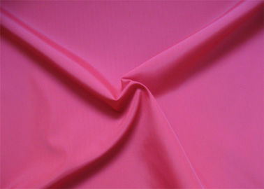 China Pink And Red Polyester Woven Fabric / Poly Pongee Fabric For Clothing supplier