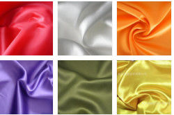 China 100% Textile Polyester Knit Fabric Satin Shining Surface 50D * 70D Yarn Count supplier