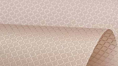 China Diamond Lattice Polyester Knit Fabric Tear Resistant Elegant Appearance supplier