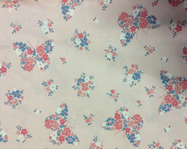 Smooth Surface Printed Polyester Fabric , Fashionable 270T Printed Satin Fabric