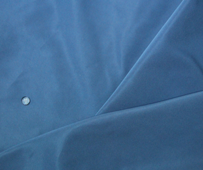 Blue 100 Percent Polyester Fabric , 190T 63 * 63D Polyester Blend Fabric