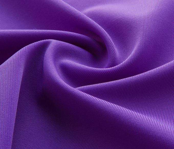2 Way Stretch Polyester Fabric , Knitted 88 Polyester 12 Spandex Fabric