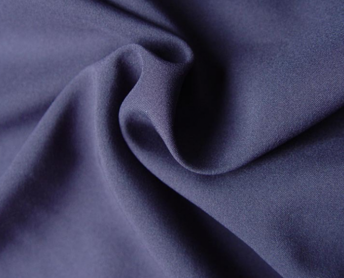 Light And Thin Polyester Twill Fabric , Polyester Satin Fabric Easy To Wash