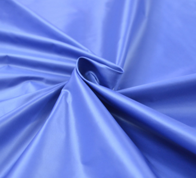 40 * 40D Plain Dyed PA Coating Fabric 320T Poly Taffet Smooth Surface Waterproof